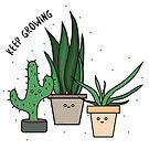 KEEP GROWING - cute house plants by effisummers