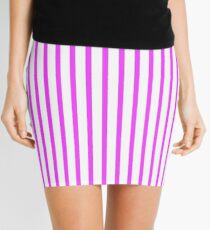 Pencil Skirt with Slimming Vertical Stripes Pink Mini Skirt