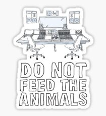 Do Not Feed The Animals Sticker
