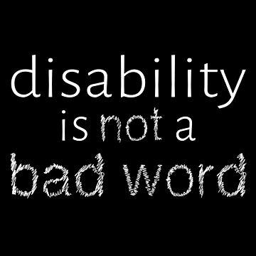 La discapacidad no es una mala palabra - Blanco de amythests