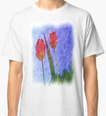 tulip flower drawing Classic T-Shirt