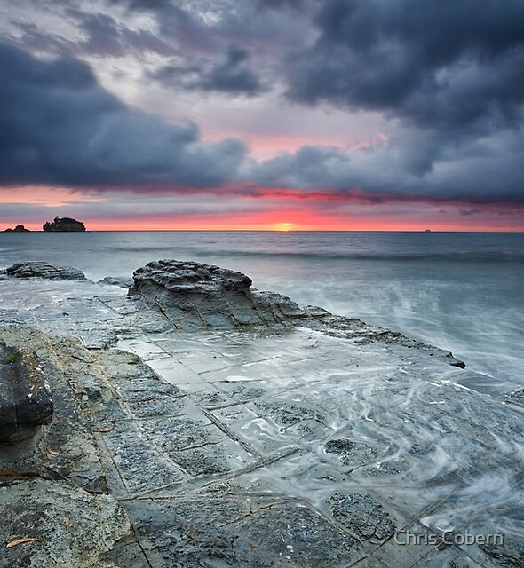 Tessellated Pavement Sunrise, Eaglehawk Neck, Tasmania by Chris Cobern