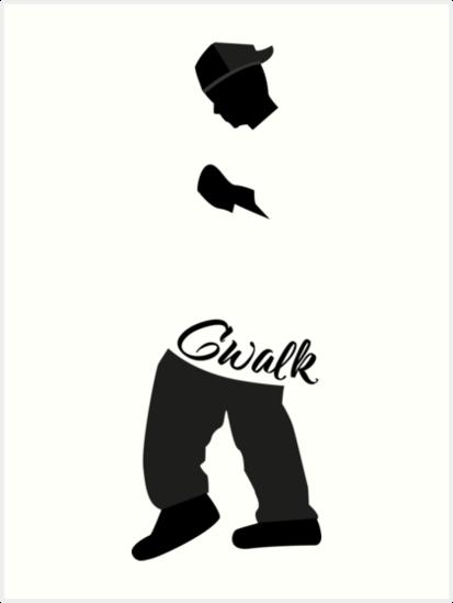 Cwalk Cripwalk Clownwalk Dancing Hip Hop Shirt Art Prints By Gufbox