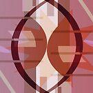 Cosmic Collision -  warm earthy reddish purple version - Jenny Meehan by Jenny Meehan