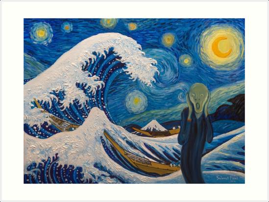 « Hokusai, munch ou van gogh? » par briochina