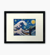 Hokusai, munch or van gogh? Framed Print