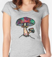 Papa Shroom  Women's Fitted Scoop T-Shirt