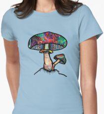 Papa Shroom  Womens Fitted T-Shirt
