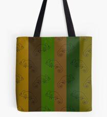 Camo Chameleon Stripes Tote Bag