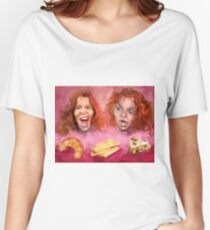 Shaun White and Carrot Top with Delicious Pastries Women's Relaxed Fit T-Shirt