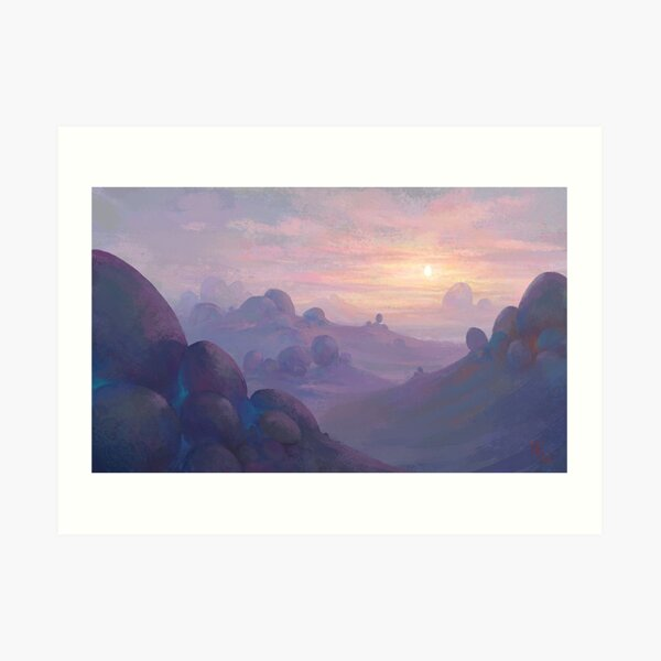 Eggrise on the Planet of the Eggs Art Print