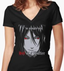 Black Butler Funny TShirt Epic T-shirt Humor Tees Cool Tee Women's Fitted V-Neck T-Shirt