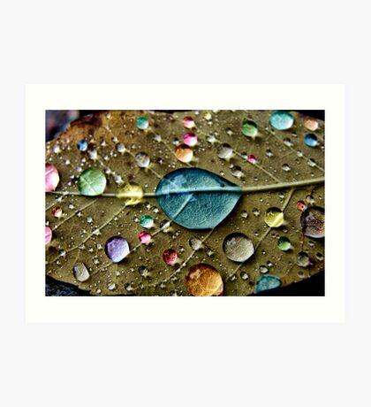 Candy Rain Art Print