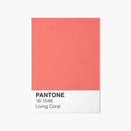 Living Coral Pantone Art Board Print