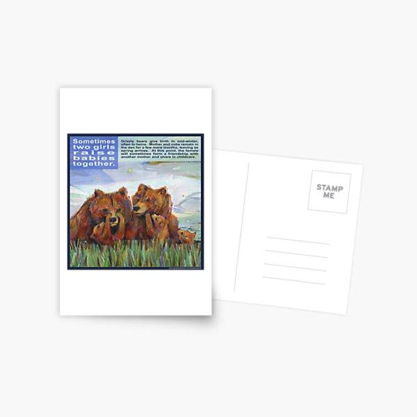 Mama Bears (Grizzly Bear) Postcard