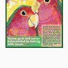 Polly want a Polly (Peach-faced lovebird) by Gwenn Seemel