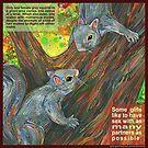 Ladylike behavior (Gray squirrel) by Gwenn Seemel
