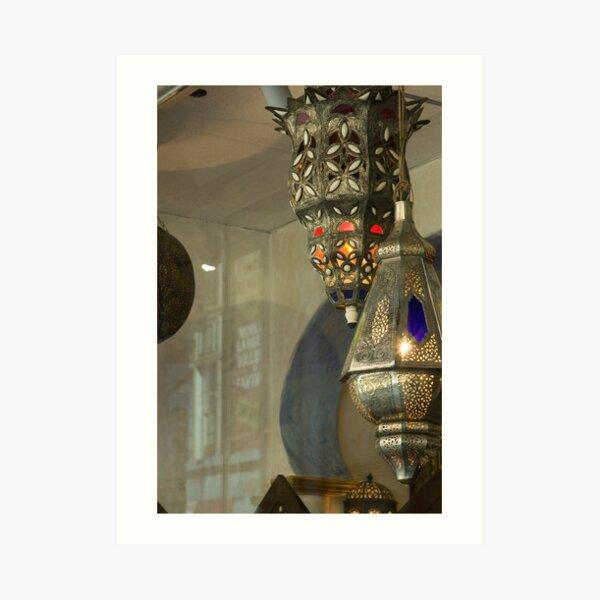 Moroccan Lanterns Art Print