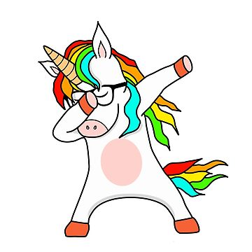 Funny Professional Geek Dabbing Unicorn by Mmastert