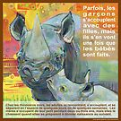 Mère seule (Le rhinocéros noir) by Gwenn Seemel