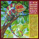 Sur la passerelle (Le caméléon panthère) by Gwenn Seemel