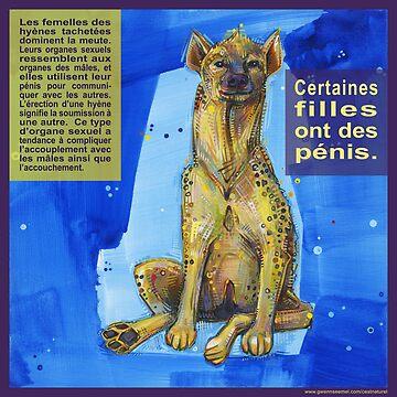 Elle porte la culotte (L'hyène tachetée) by gwennpaints