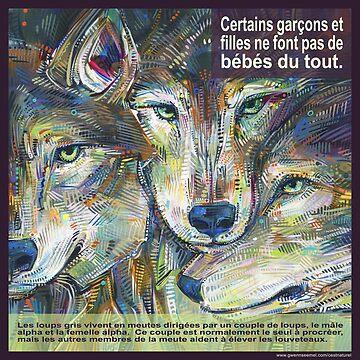 Un loup pas tout à fait solitaire (Le loup gris) by gwennpaints