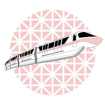Millennial Pink Epcot Monorail by FandomTrading
