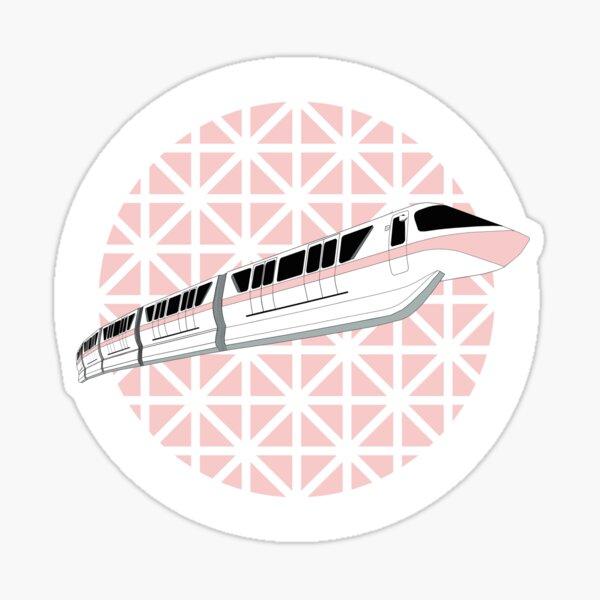 Millennial Pink Epcot Monorail Sticker