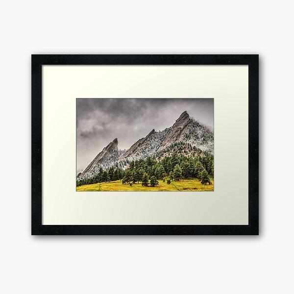 The Fabulous Flatirons Framed Art Print