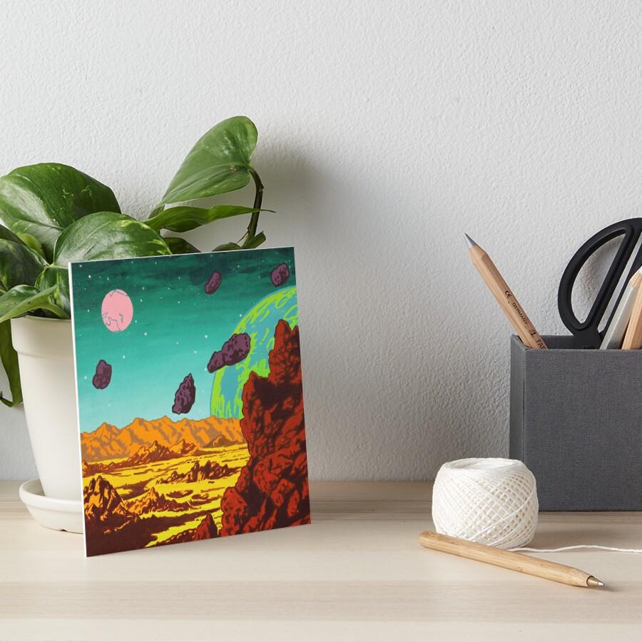 Spacescape Art Board Print