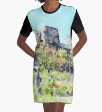 The Scalea watchtower Graphic T-Shirt Dress