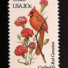1982 20c Ohio State Bird & Flower Postage Stamp by Chris Coates