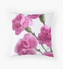 five pink carnations Throw Pillow