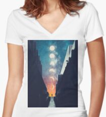 Soliloquy Fitted V-Neck T-Shirt