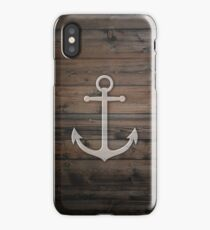 Anchor wood iPhone Case/Skin