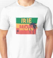 Irie Montag-Reggae-Entwurf mit den Palmen Jamaikaner, der alles Irie sagt Unisex T-Shirt