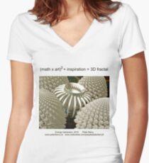 Fractal Math - Energy Generator Women's Fitted V-Neck T-Shirt