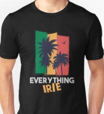 Alles Irie Reggae und Jamaica Style mit Palmen Unisex T-Shirt