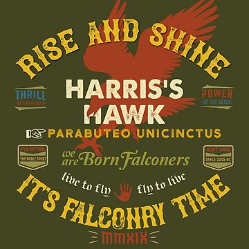 Harris's Hawk falconer's Supplies, Falconry Harris Hawkers Clothing and Gifts by manbird