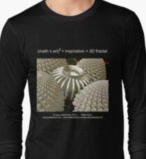 Fractal Math - Energy Generator Dark Long Sleeve T-Shirt