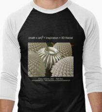 Fractal Math - Energy Generator Dark Men's Baseball ¾ T-Shirt