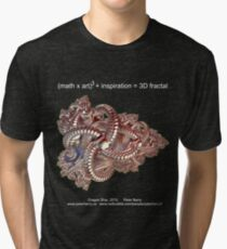 Fractal Math - Dragon Ship Dark Tri-blend T-Shirt