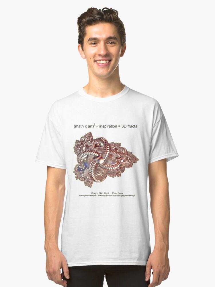 Fractal Math - Dragon Ship Classic T-Shirt Front