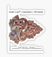 Fractal Math - Dragon Ship Sticker