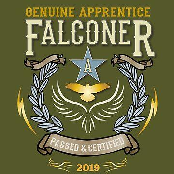 Congratulations! 2019 Apprentice Falconer's Classic Design Apparel and Gifts - 2019 Falconry Apprentice  by manbird