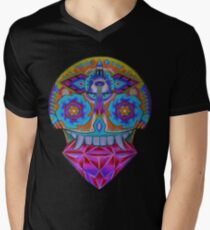 Huichol Ancestor Mens V-Neck T-Shirt