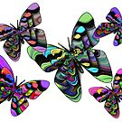 Five Colorful Butterflies by CarolM