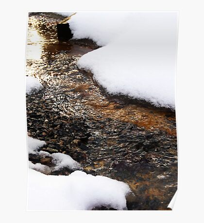 Babbling Snow Brook Poster