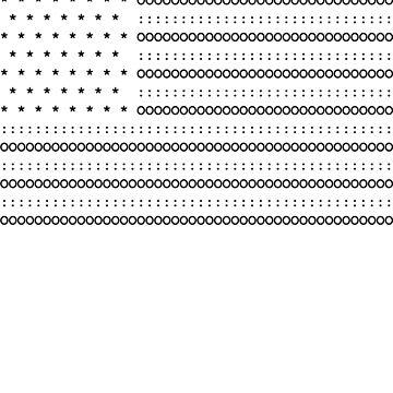 Black Text US Flag Ascii Art by joehx